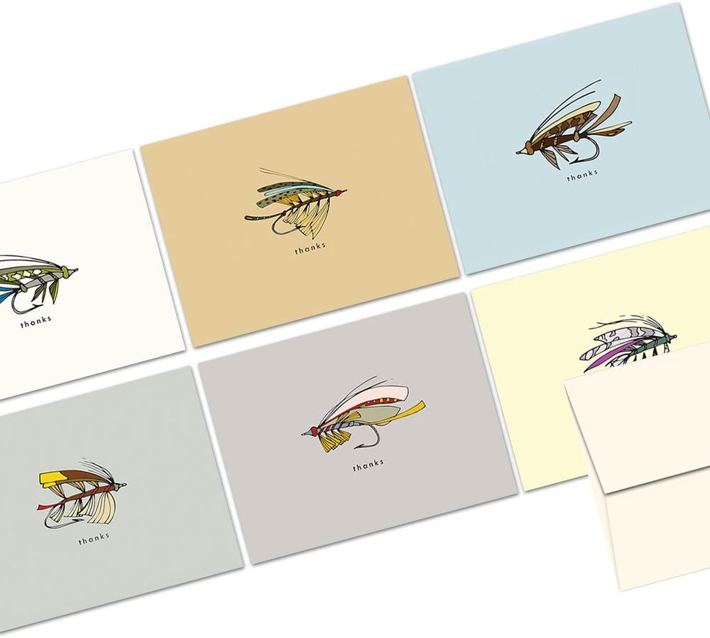 Artist Note Cards Thank You Cards Printed Cards Greeting Cards Paper /& Party Supplies Fishing Mens Stationary Set Paper Art Cards