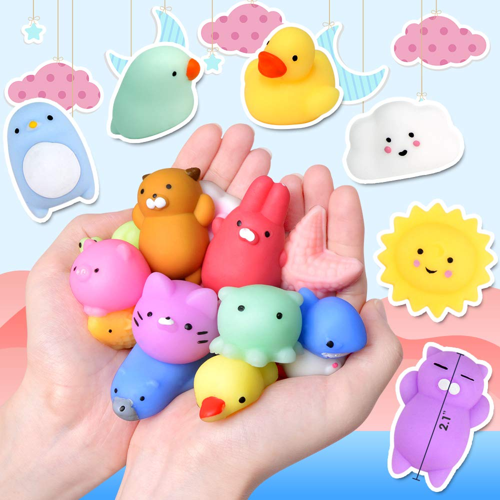 UMIKU 45PCS Mochi Squishy Toys Mini Squishy Kawaii Animal Squishies Gifts for Boys Girls Party Favors for Kids Cat Unicon Squishy Stress Relief Toys for Adult Random by UMIKU (Image #2)
