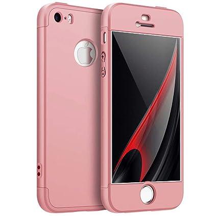 AILZH kompatibel für HandyHülle iPhone 5/5S/5SE Hülle 360 Grad Schutzhülle PC Schale Anti-Schock Anti-Kratz Stoßfänger 360 Gr