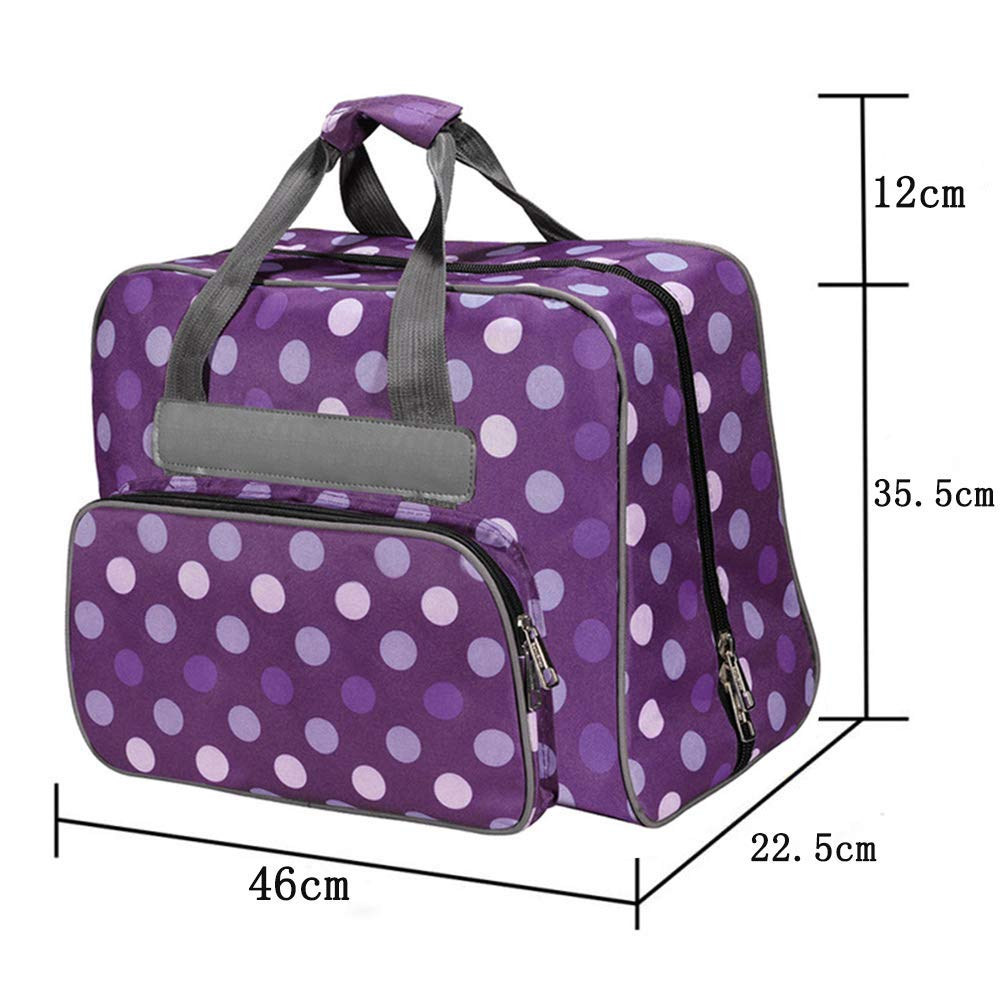 YICBOR Sewing Machine Carrying Case Carry Tote//Bag Assortment Large Capacity Oxford Fabric Cloth Storage Bags with Pockets and Handles for Most Standard Singer,Brother,Janome Blue