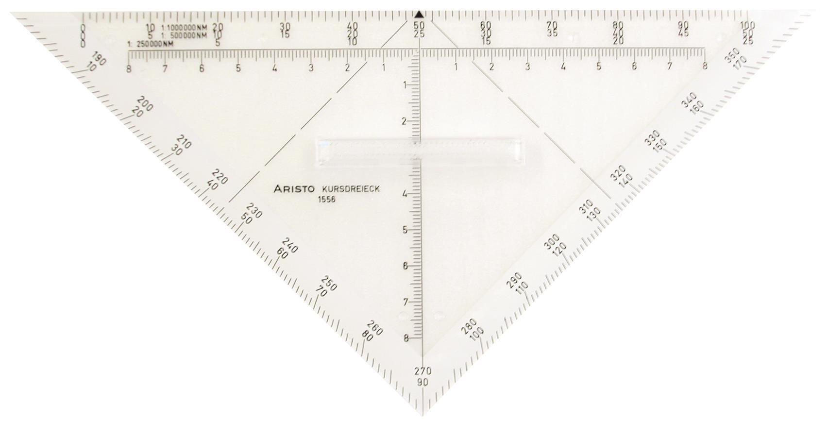 Aristo Protractor Triangle Plexiglass 22.5 mm Transparent