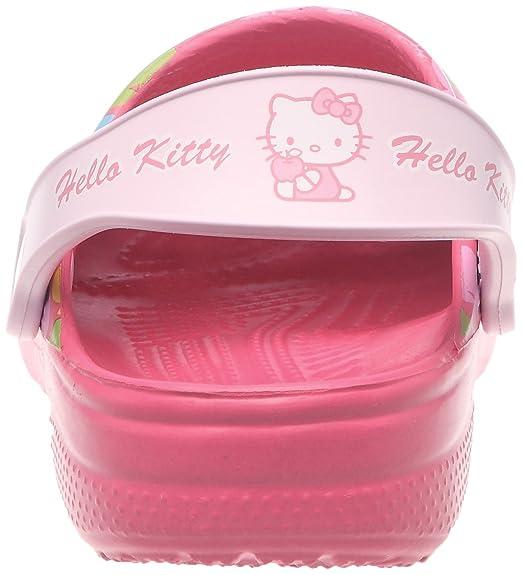 Crocs Classic Hello Kitty Apples (EU), Sabots mixte enfant, Rose (Hot Pink/Bubblegum), 33-34 EU (J2 US)