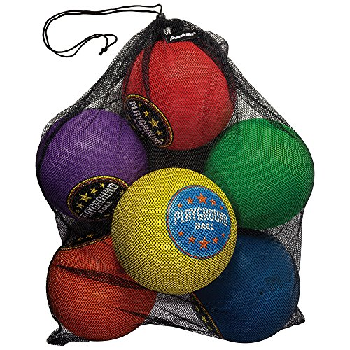 Franklin Sports Six Pack Playground Balls with Mesh Carry Bag and Pump – 8.5 inch Diameter