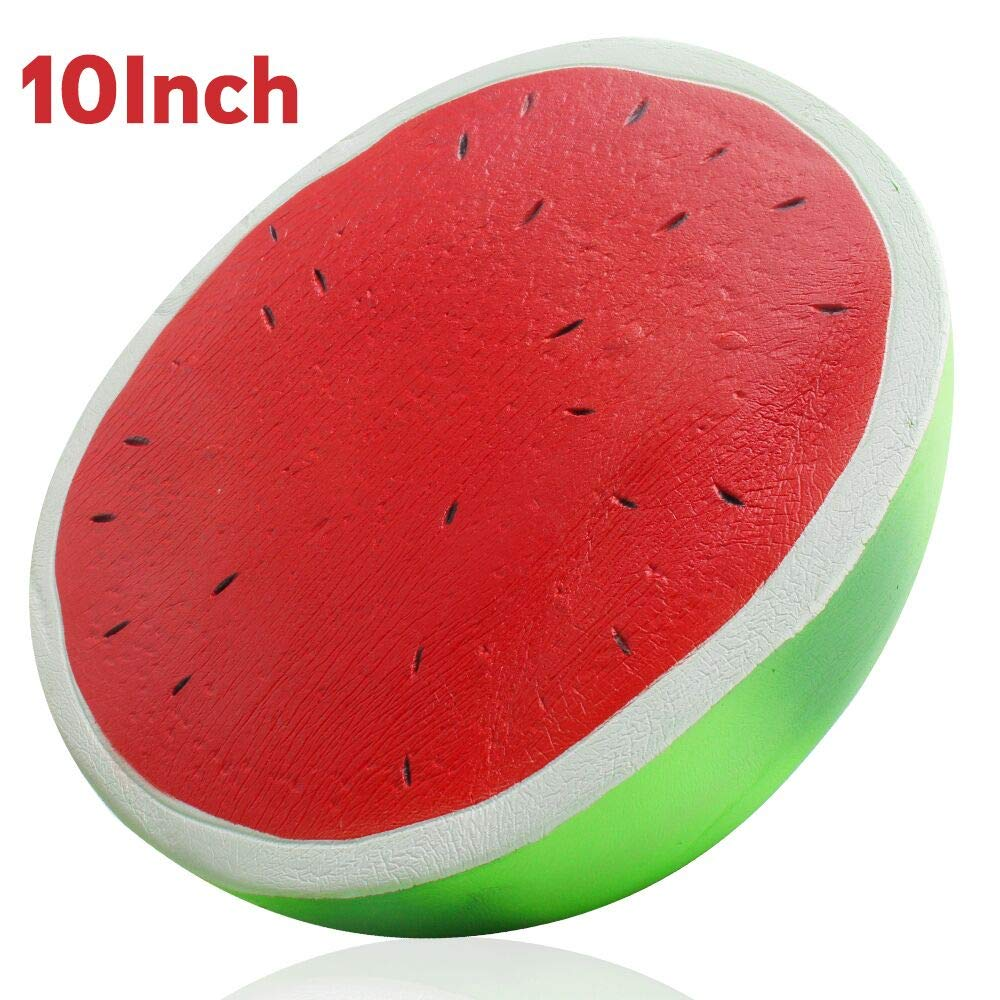 Outee 10 Inch Jumbo Watermelon Squishy Big Watermelon Squishy Scented Slow Rising Kawaii Stress Relief Squeeze Toys for Kids Adults