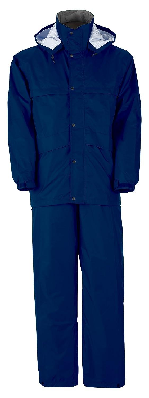 スプルース スーツ 全5色 全6サイズ レインスーツ ネイビー L 防水透湿 2層レイヤー 収納袋付き 8850 [正規代理店品] B009W042T4