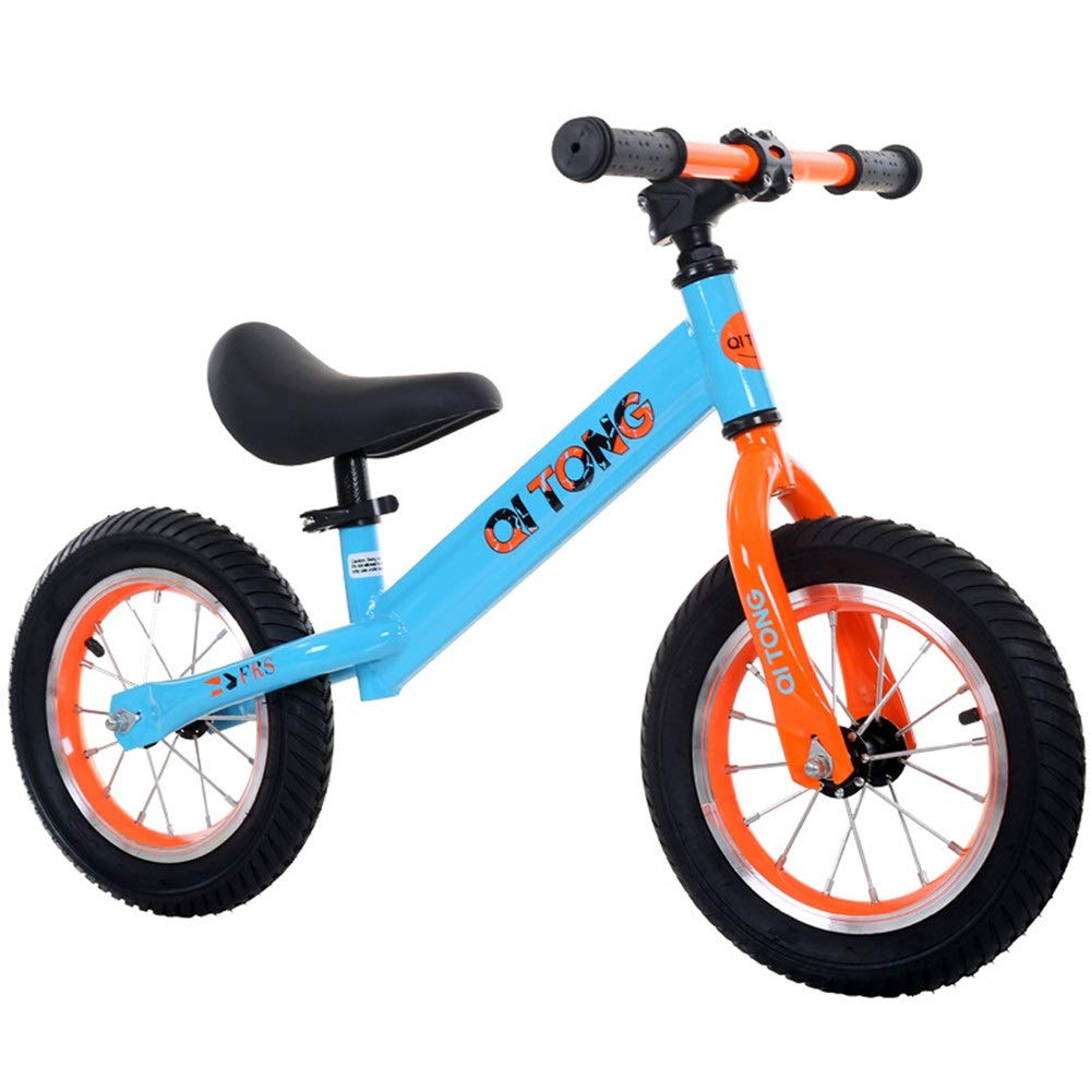 Bambino in bicicletta 12  Balance Bike per bambini e bambini No Pedal con pneumatici pneumatici Anti-scivolo Manubrio sedile regolabile Push And Stride Walking Bicicletta Sport Training Bilanciamento