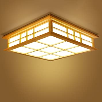 Luz de techo $ lámpara de techo lámpara colgante para dormitorio luces de estilo japonés control remoto ...