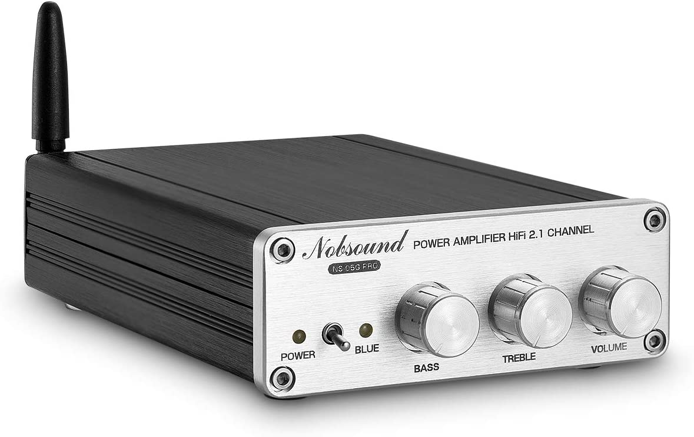 Nobsound HiFi Bluetooth APTX 2.1CH Class D Power Amplifier Stereo Home Audio Amp