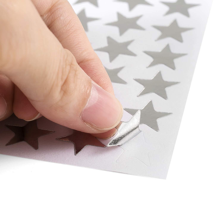 per bambini feste autoadesivi artigianato Natale progetti decorativi per scuola colorati compleanno 5260 pezzi Adesivi a forma di stella