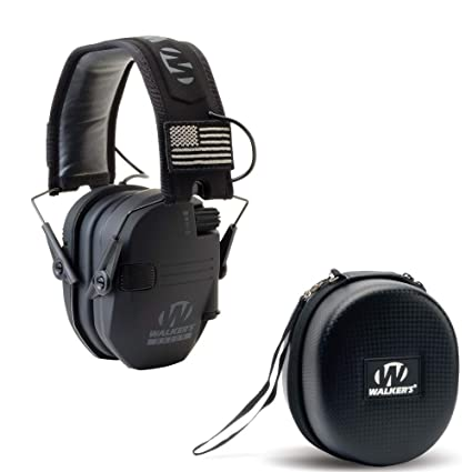 5d3a22a8e77a Walkers Razor Slim Electronic Shooting Hearing Protection Muff (Sound  Amplification and Suppression) with Protective