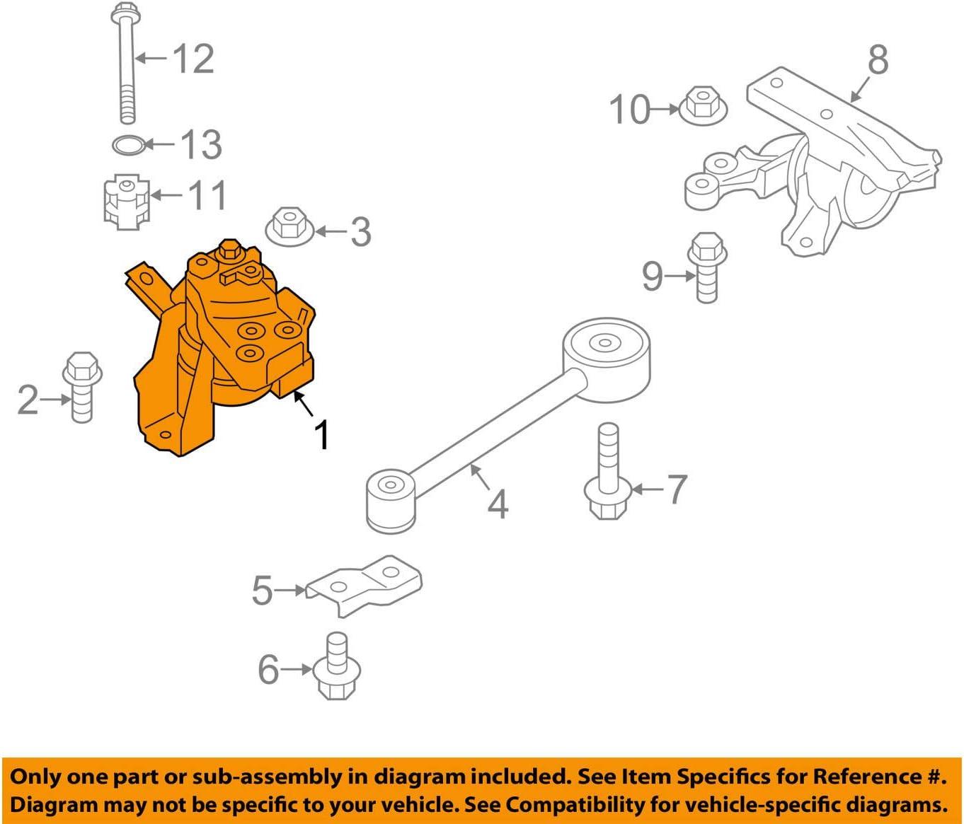 Amazon.com: Mitsubishi OEM 14-15 Mirage-Engine Motor Mount Torque Strut  1093A146: AutomotiveAmazon.com
