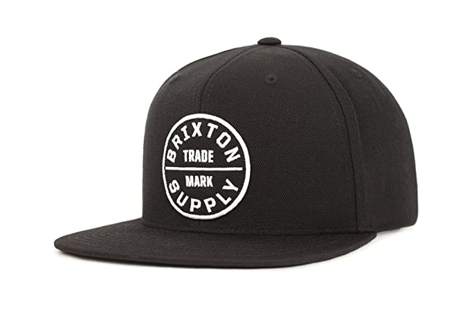 Brixton Men's Oath III Snapback Hat, Black, One Size