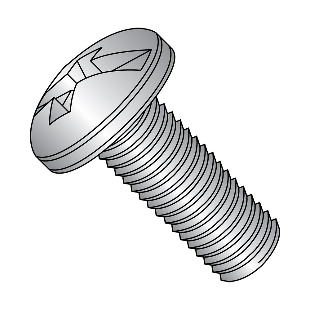 #2 Combination Philllips-Slotted Drive Meets ASME B18.6.3 Pack of 100 18-8 Stainless Steel Pan Head Machine Screw #8-32 Thread Size 1 Length Fully Threaded Imported