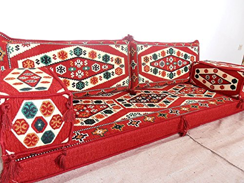 Arabic majilis,arabic couch,arabic seating,arabic cushions,floor sofa,floor bed,oriental furniture,floor cushions - MA 27