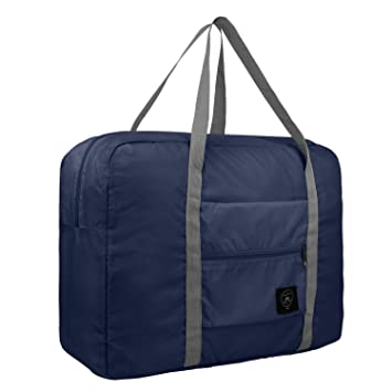 Amazon.com   HDWISS Foldable Travel Duffle Bag Tote Carry on Luggage for  Spirit Airlines - Navy Blue   Travel Duffels a37caef1a4