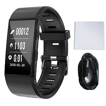 Fancylande Montre Connectée Bracelet Connecté Fitness Tracker dActivité Montre Cardio Sport avec Cardiofréquencemètre,