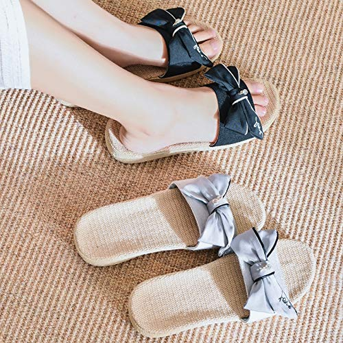 Semelle Pantoufles Accueil Chaussures Pour En Wicking On Filles Clients Soft Sandales À Non Slip Ouvert Sandale Maison Lin Gray Bout slip Femmes Unisexe XHwvEv