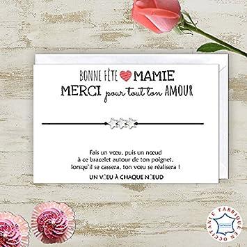 Carte De Voeux Joyeux Anniversaire Mamie Bracelet Porte Bonheur