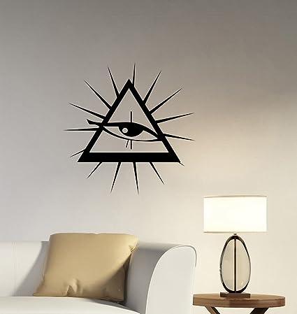 Secret Society Masonic Sign Wall Decal Freemason Illuminati