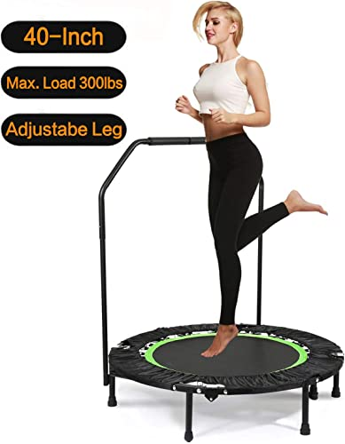 Balanu 40 Inch Mini Exercise Trampoline for Adults or Kids – Indoor Fitness Rebounder Trampoline with Safety Pad Max. Load 220LBS