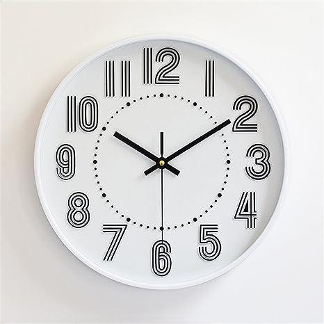 Relojes de pared,ver 3D estéreo digital de plástico escala continental Reloj de pared Reloj