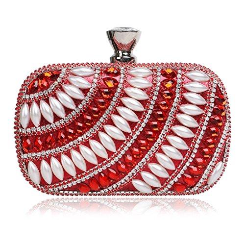 Nightclub Blue Evening Luxury Diamond Handbag Lady Clutch KERVINFENDRIYUN Bag Women's Red Color CYwvff