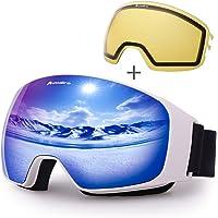 Avoalre OTG Skidglasögon Skyddsmask för Vuxna Skidmask Kvinnor Och Män Ski Snowboard Snow Mask Anti-UV Lämplig för…