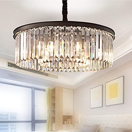 Amazon.com  Meelighting Crystal Chandeliers Modern Contemporary Ceiling  Lights Fixtures Pendant Lighting Dining Room Living Room Chandelier D21.6