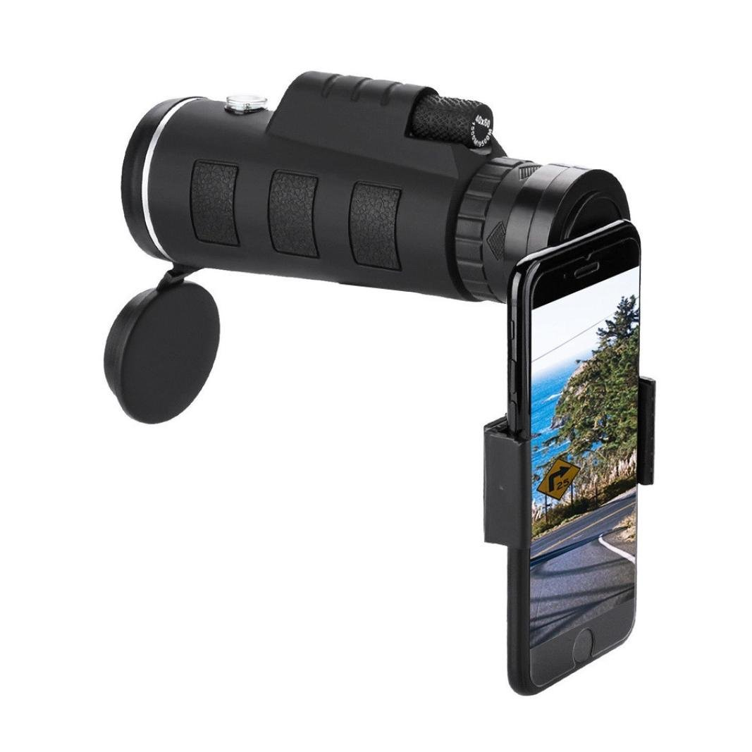 Opeer Telescope for iPhone/Phone HD 40x60 Optical Zoom Camera Telescope Lens with Clip (Black)