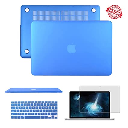 detailed look b680a ed588 MacBook Air 13.3 inch Case, IC ICLOVER Rubberized Matte Hard Shell Plastic  Case+Matching Keyboard Skin+LCD Screen Protector for MacBook Air 13.3