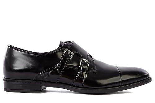 Prada scarpe classiche uomo in pelle nuove monkstrap nero  Amazon.it  Scarpe  e borse 61f70d290a7