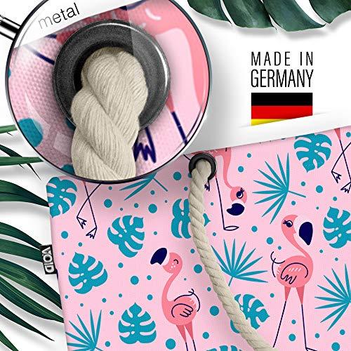 VOID flamingo palmer rosa strandväska Shopper 58 x 38 x 16 cm 23 L XXL shoppingväska väska resväska Beach Bag