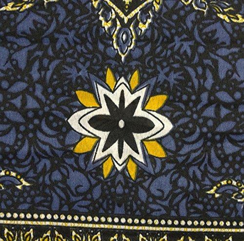 Stampata Donne Caftano Camicia Denim Lungo Abito Floreali Coprire Da PEEGLI Kimono Blu Kaftano Notte Z5zXqAT