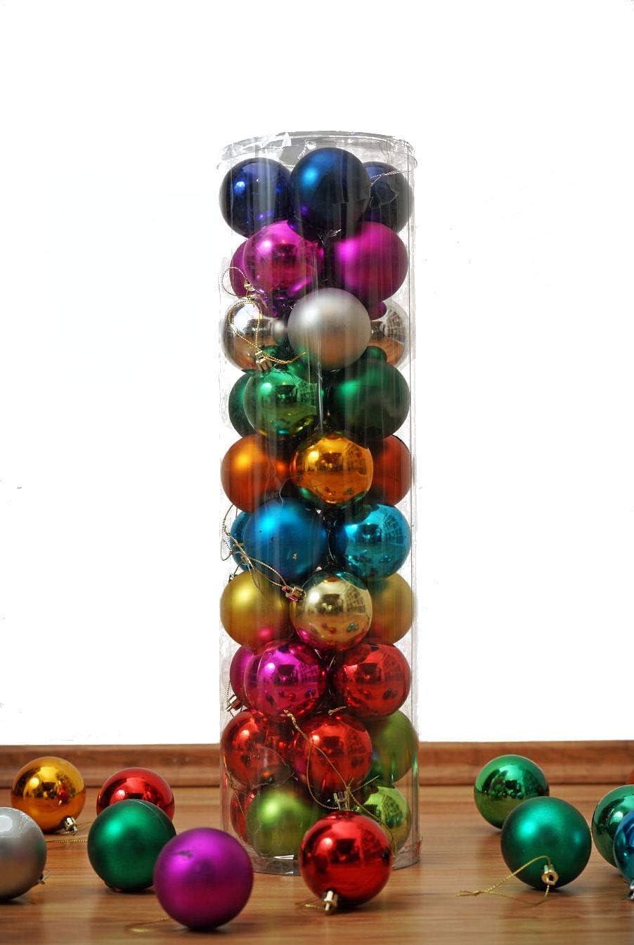 4 Farben Christbaumschmuck Weihnachtsbaumkugeln Weihnachtskugeln 40er Set