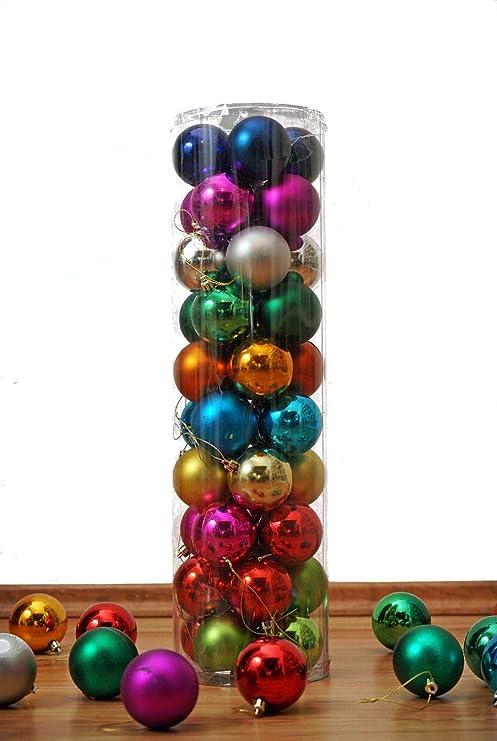 Christbaumkugeln Hersteller.Christbaumkugeln 40er Set In 10 Farben Gemischt Durchmesser 6 Cm