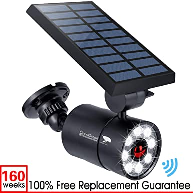 Solar Motion Sensor Light Outdoor Aluminum,1400 Lumens 9-Watt 130W Equi. LED Spotlight, 2-Mode Solar Security Lights for Garden Driveway Patio, 3-Year Battery Life, 160-Week 100 Replacement Guarante