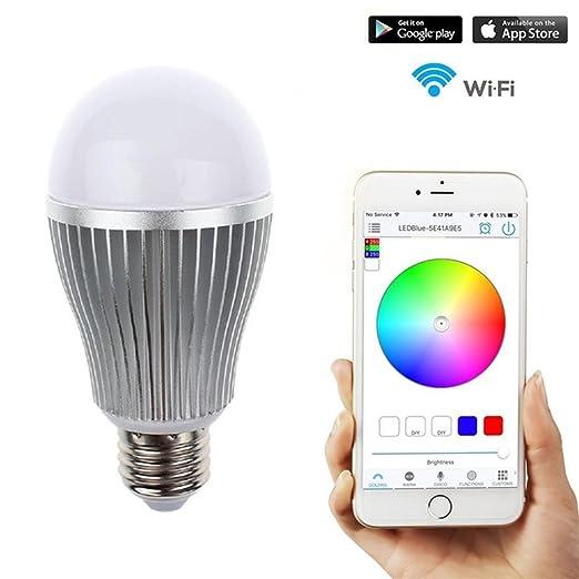 Smart – Bombilla LED Smartphone Controlado Regulable multicolor cambia de color wifi luz bulb- controlado