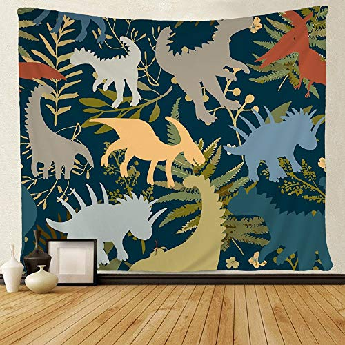 - SARA NELL Tapestry Mandala Hippie Bohemian Tapestries Trendy Collection with Colorful Dinosaurs Pattern Tapestry Wall Hanging Indian Dorm Decor for Living Room Bedroom (51.2 x 59.1 inches)