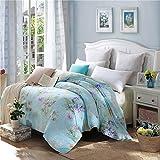 Pastoral Style flowers Plants [stripe] 100% Cotton Bedclothes Quilt Cover(Contains only a quilt)-J 220240cm(87x94inch)