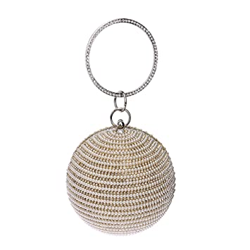 Veiai 2016 Women Round Clutch Bag for Evening Luxury Pearl Bridal Bags  CrossBody Handbags Phone Lady Bag  Amazon.co.uk  Luggage