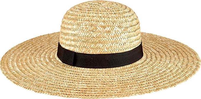 aa2892f3c48 SAN Diego HAT CO Womens Round Crown Wheat Straw Sunbrim Natural
