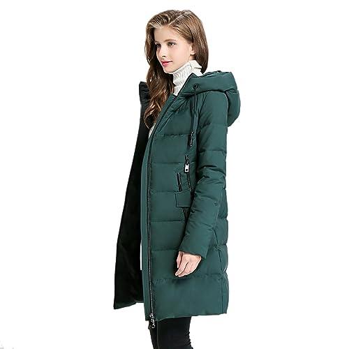 EURASIA8 - Abrigo - Parka - para mujer Verde Ejercito Verde Large