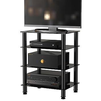 tv regal glas ricoo lcd tv st nder fs standfuss glas standfu led fernseher stand halterung. Black Bedroom Furniture Sets. Home Design Ideas