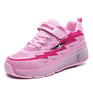 LXIANGP Zapatos de Rodillo Fly Zapatos con Ruedas,Unisex Zapatos para niños y niñas,