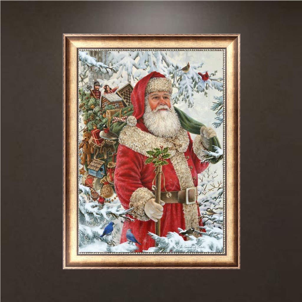 Horenme DIY 5D Diamond Painting Santa Claus Christmas Embroidery Cross Stitch Home Decor