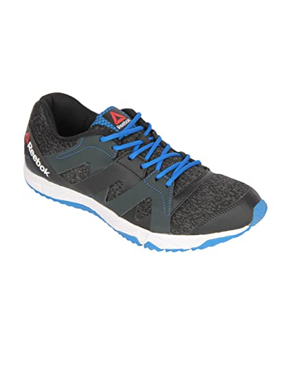 Reebok Men s Black Gravel Blue White Running Shoes - 7 UK India ... b6fb724cf