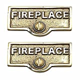 Switchplate Polished/Lacquered Brass FIREPLACE Switch Tag Brass 1 11/1