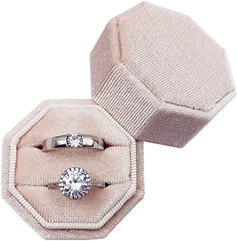 Heirlooms 7 Color OptionsVelvet Octagon Hand Made Ring Wedding Ring Gift Ring Box