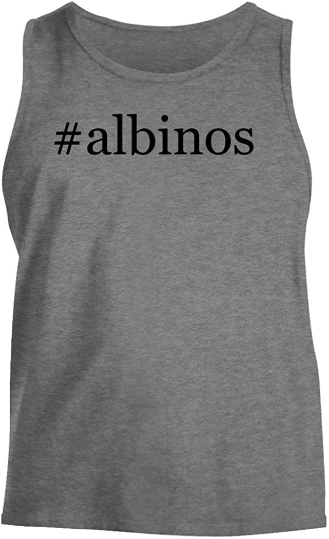 #albinos - Men's Hashtag Comfortable Tank Top, Heather, Medium
