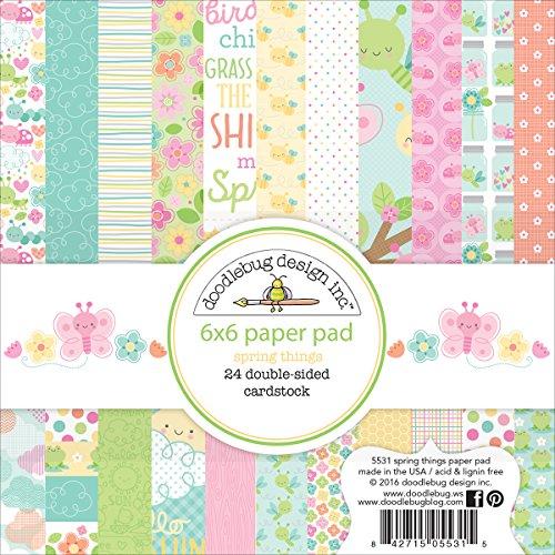 (DOODLEBUG 6x6 Spring Things Paper Pad)